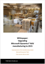Upgrading manufacturing to Microsoft Dynamics NAV  2015